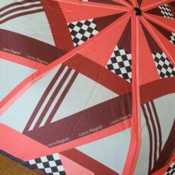 Červený skladací dáždnik Laura Biagiotti