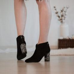 Členkové čižmy nízke Laura Biagiotti Micro Black
