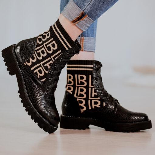 Workery Laura Biagiotti Calf Black Croco
