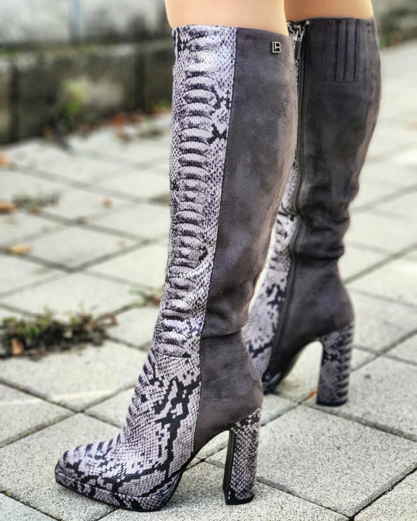 Čižmy Laura Biagiotti, ako nosiť vysoké čižmy