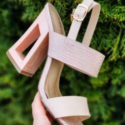 Sandále na podpätku Enrico Coveri
