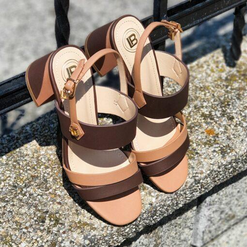 Dámske sandále na nízkom podpätku Laura Biagiotti